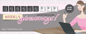 Techie She's Lucky Blogger Weekly Giveaways