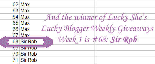 techie she's lucky blogger weekly giveaways week 1 winner