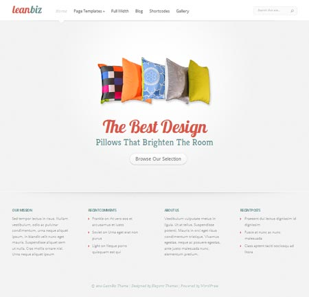 leanbiz wordpress theme