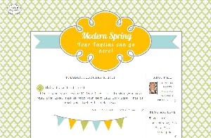 modern spring free blogger template