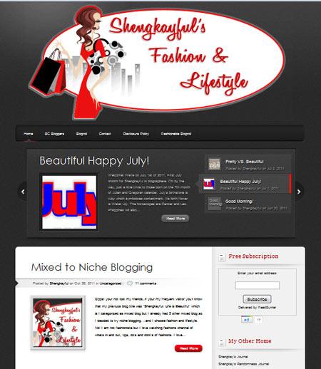 My Second Blog Design