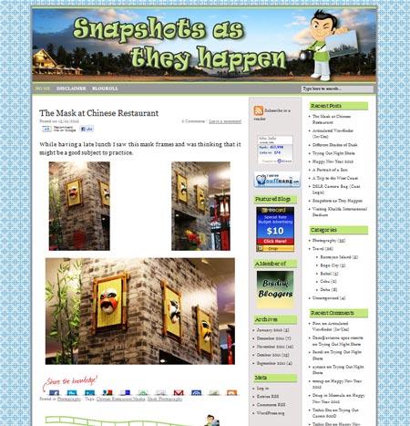 My Fifth Blog Design