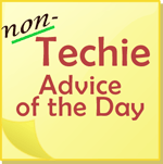 non-techie advice note pad