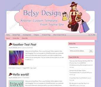 Betsy Design: Second Pre-made Design from Techie She