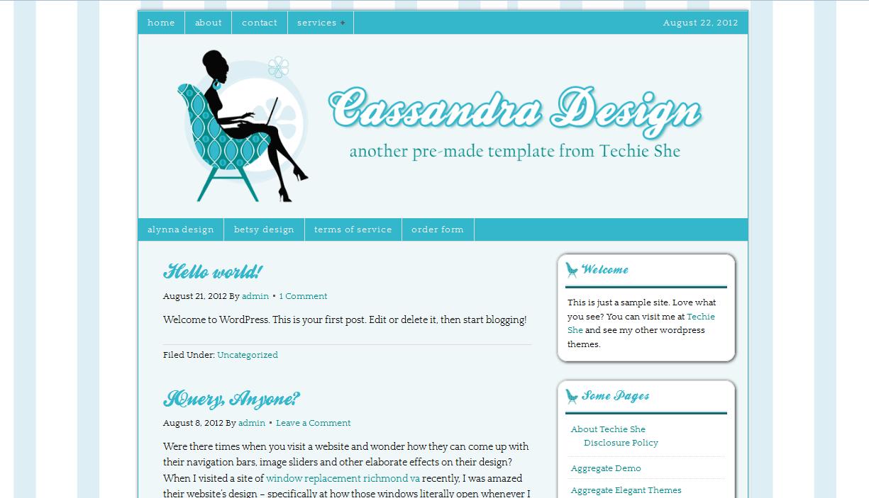 Third Pre-made WordPress Theme: Cassandra Design