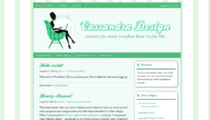 cassandra wordpress theme green version