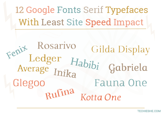 12 Serif Google Fonts With Least Impact on Site Speed