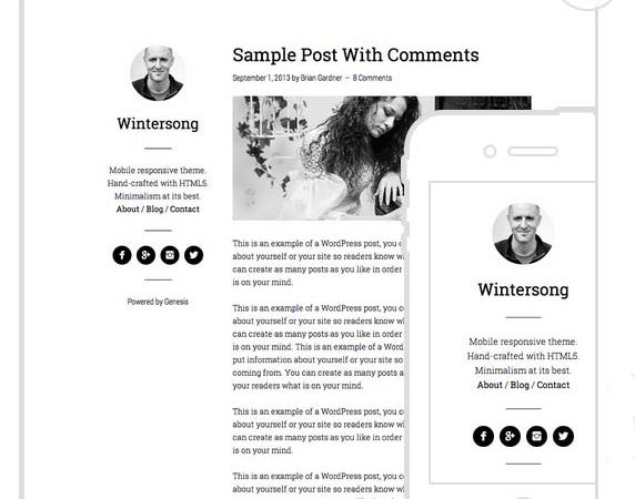 WinterSong Pro Theme from StudioPress