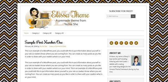 Elissa Gold Pre-made Theme for WordPress