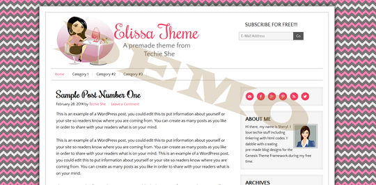 Elissa Pink Pre-made Theme